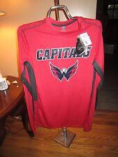 Men's NHL Capitals Red Long Sleeve Shirt SZ  S/CH NWT