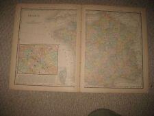 ANTIQUE 1882 FRANCE DETAILED PARIS MAP SUPERB WINE REGION INTEREST RARE NR