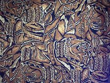 "Vintage Galey & Lord Fabric, Tribal Brown/Black/Cream,Cotton 61""x 57"" Cotton"