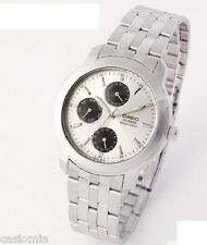 Casio MTP1192A-7A Mens Multi Function Stainless Steel Dress Watch Silver Dial