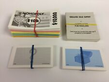 Lot Of Used Monopoly Here & Now Replacement Cards & Money - See Description
