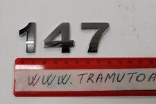 SCRITTA Alfa Romeo 147 - CON BIADESIVO - CROMATA - per AUTO -