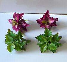 4 Succulents Mini Plants Artificial Leaves Plastic Grass (2 colors)