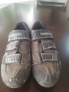 SHIMANO SPD SH-M121G Mountain Bike Cycling Shoes Black/Gray Mens Size 9 U.S. EU