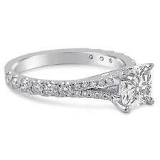 GIA CERTIFIED CUSHION SPLIT SHANK DIAMOND ENGAGEMENT RING C18