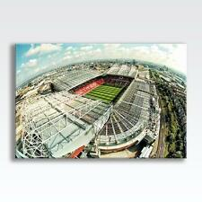 """MANCHESTER UNITED OLD TRAFFORD CANVAS Poster Print Photo Wall Art 30""""x20"""" CANVAS"""