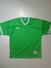 Vintage Umbro Polyester Jersey T-shirt Teamwear Size Large Shiny green blank