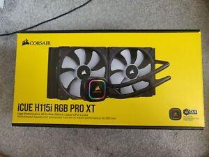 Corsair Hydro iCUE H115I RGB Pro XT AIO CPU Liquid Cooler 280mm Intel Only