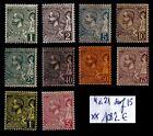 MONACO : 10 Timbres ALBERT 1er, Neufs ** = Cote 1082 € / Lot Classiques DOM TOM