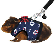 Rypet Guinea Pig Navy Blue Soft Mesh Small Pet Harness and Leash with Safe Bell