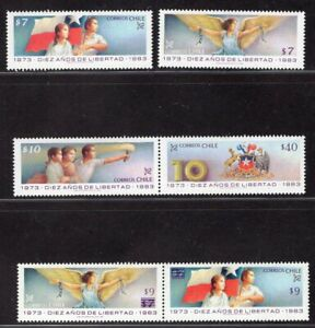 CHILE 1983 STAMP # 1065/70 MNH MILITARY GOVERNMENT