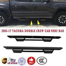 For 05-18 Toyota Tacoma Crew Double Cab RT Running Board Side Bars Down Step Pad