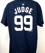 Aaron Judge New York Yankees Player Name and Number Navy Tee Adult XL