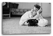 Lein-Wand-Bild: Audrey Hepburn