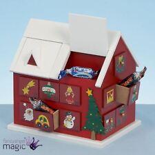 20cm festliche Holz Holz Haus Adventskalender traditionell Weihnachtsdekoration
