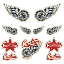 Custom Motorcycle Laminated Sticker set Motorbike Biker Cafe Racer Rocker