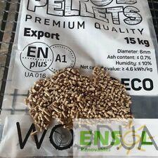 Pellet WOODUA: EXCLUSIVO en Ensol.es. Madera:100% Pino (saco 15 kgs)