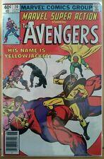 MARVEL SUPER ACTION #20 The AVENGERS (1980 MARVEL Comics) ~ FN-VF Comic Book