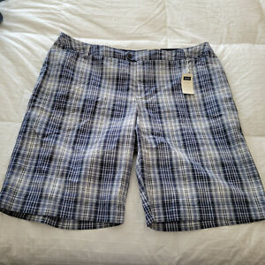 NWT Sonoma Woman's Blue Plaid Shorts Sz.   22W  Plus SIZE NEW