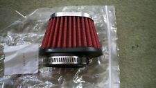 Motorcycle Pod/Air Filters 60 mm  ID, Treated with K&N Filter Oil , Ready to fit