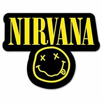 "NIRVANA Smiley Classic Band Vinyl Decal Sticker 3"""