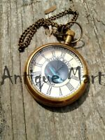 Nautical Pocket Watch With Chain Clock Victoria London Antique Look Replica Gift