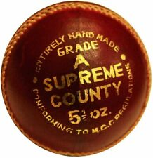 Amber Cricket Gear Supreme County Entirely Hand Stitched Leather Cricket Ball
