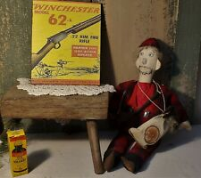 PRIMITIVE ANTIQUE  MODEL 62 22LR WINCHESTER AD PRINT ART SIGN CANVAS 8 X 10