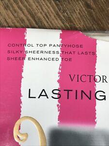 Victoria's Secret lasting luxuries control top pure white pantyhose medium