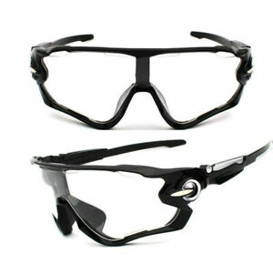 NEW Cyclocross Sunglasses clear Black Bike Cycling Helmet Sun Glasses UV400 Men