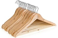 Pack Of 20 Wooden Coat Hangers Clothes Suit Garments Wood Hanger Trousers Pant