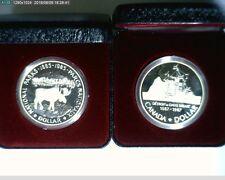 1985 &1987 $1 Canadian Comm Proof Dollars  ( 70-174 )