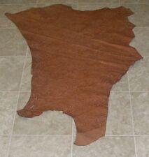 (Mjz8208-1) Part Hide of Tan Orange Printed Cow Leather Hide Skin