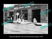 OLD LARGE HISTORIC PHOTO OF OXNARD CALIFORNIA, THE CARNERS MOTOR GARAGE c1930