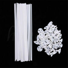 50pcs White Balloon Sticks Plastic Holder Accessory Party Latex Balloon Stick