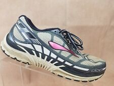 Brooks Dyad 8 Running Shoe Size 9.5 Wide Womens White Blue Athletic Sneaker