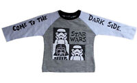 Original Star Wars Grey Black Boy's Full Sleeves T-Shirt