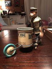 Rare Tidy Tim Spick & Span Clean Up Man Louis Marx Wind Up Tin Litho Toy Works!