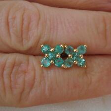 1.28ct Certified Zambian Emerald Gold Stud Earrings