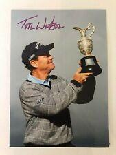 Tom Watson signed 5 x 8 photo (Golf)
