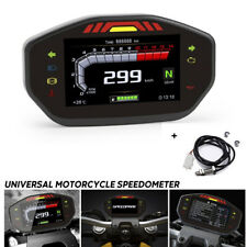 Motorcycle LCD TFT Digital Speedometer 14000RPM 6 Gear Odometer Gauge Waterproof
