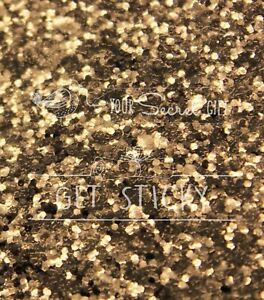 Chunky Glitter Champagne Gold Wallpaper Grade 3 3D Fabric Sold By Metre 53cm
