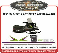 1991 1992  ARCTIC CAT Kitty Cat  Reproduction Decal Kit