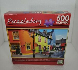 New Sealed Puzzlebug 500 piece puzzle Features colorful houses Kinsale Ireland