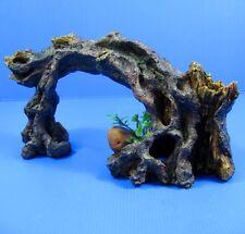 """Tree Cave 10.8"""" Aquarium Ornament Decor -Vines Root Trunk Arch Driftwood Wood"""
