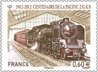 2012//ADHESIF-TIMBRE FRANCE NEUF** Centenaire de la Pacific 231. K8 - Yt. N°711