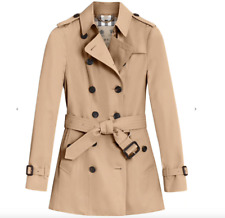 Burberry Prorsum Women's Heritage Sandringham Trench coat Honey UK8 Short Length