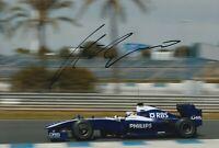 Nico Hulkenberg Hand Signed 12x8 Photo - Formula 1 Autograph F1 Williams 4.