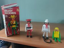 Busy Bodies Playcraft lot figures box sheriff Sam collectable rare
