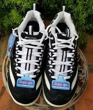Skechers Shape UPS Womens Toning SNEAKERS Black White Athletic Shoe 11809 Size 9
